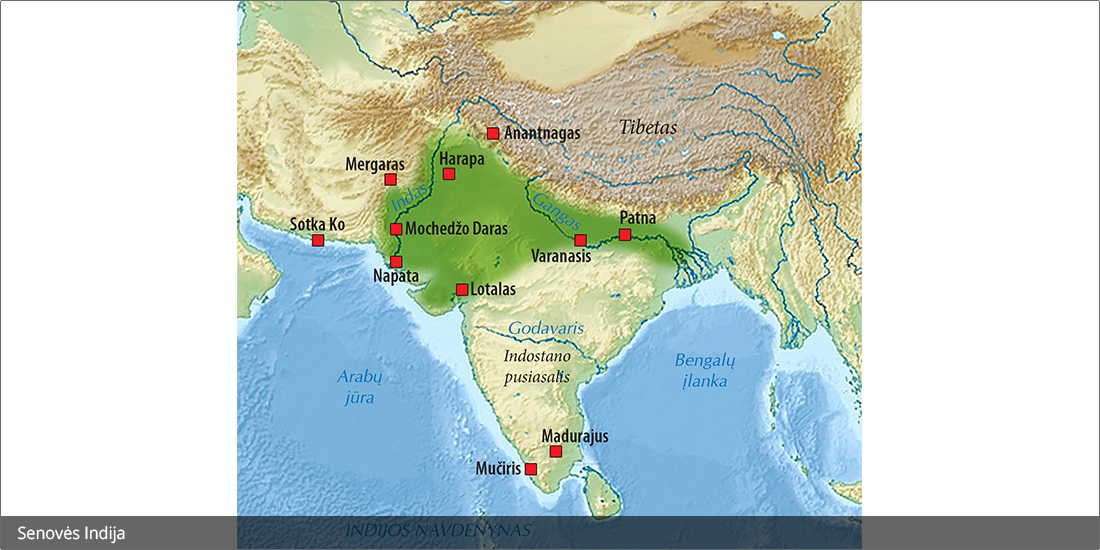 Pietų Azijos žemėlapis